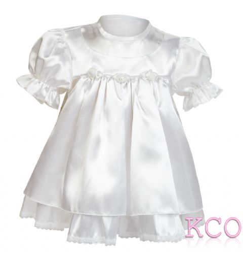 Baby Satin Dress White